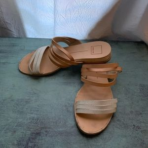 "WOMEN'S STRAPY DRESSY SANDALS 1/2"" WEDGE SIZE 10"